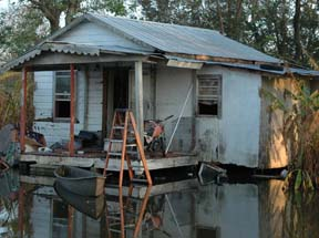 Photo: Gulf Coast Bayou home, September 2005. ©  2005 Scott Braley