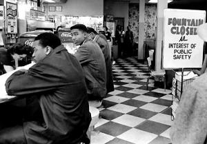 A Nashville, Tennessee lunch counter sit-in circa 1960. ©Jimmy Ellis/Nashville Tennessean.
