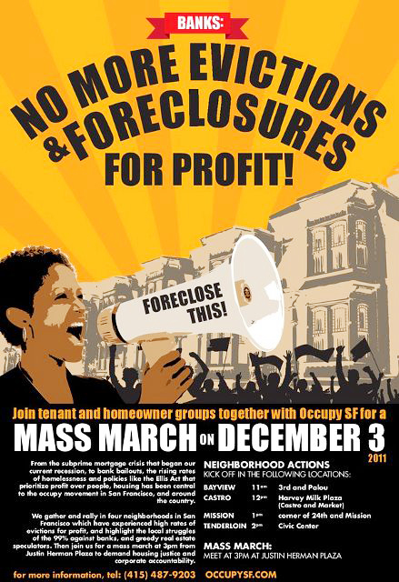 Foreclosure Poster. Courtesy of occupysf.org