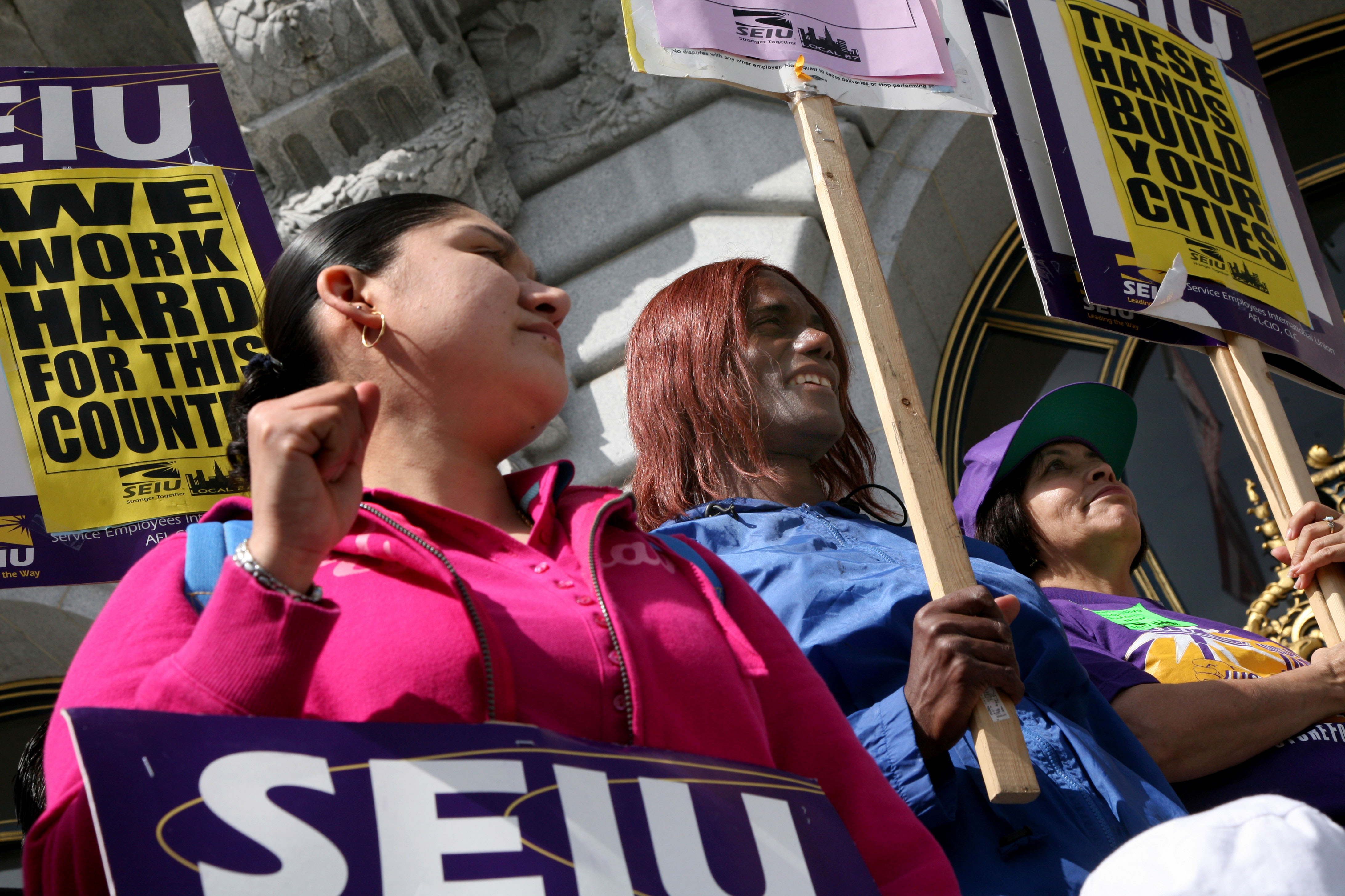 May Day protesters take streets for workers rights