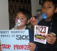 Children opposing Prop 23 in Richmond, CA. ©2010 Urban Habitat