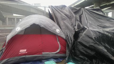 Miss Raynel's tent. Courtesy of Wanda Sabir.