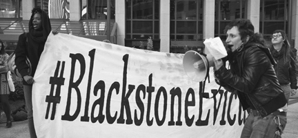 Image: Credit: Blackstone Evicts Courtesy of Tenants Together Source/ link to pdf http://www.tenantstogether.org/updates/blackstoneinvitation-homes-tenants-fight-back